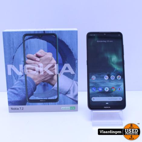 Nokia 7.2 128GB Zwart - In Top staat - Met Garantie -