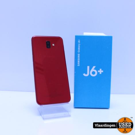 Samsung Galaxy J6+ 32GB Rood - Klein Scheurtje achterzijde -
