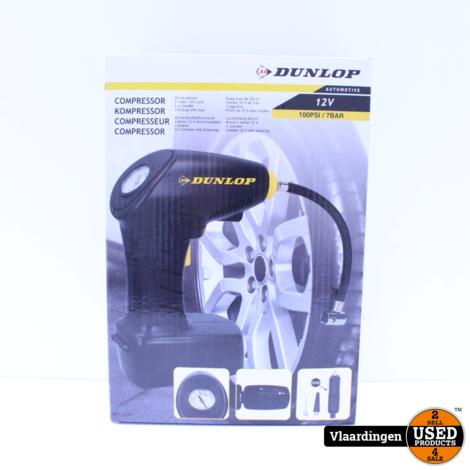 Dunlop Compressor 12V - Nieuw in Doos -
