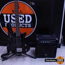 Washburn Washburn T12 Taurus Bass - In goede staat - met GLX GT20B Versterker -