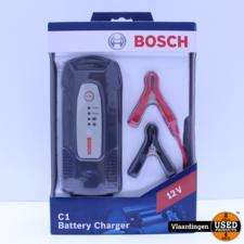 Bosch Bosch acculader C1 12 Volt 5-120 Ah 3,5 Ampère zwart - Nieuw in Doos -