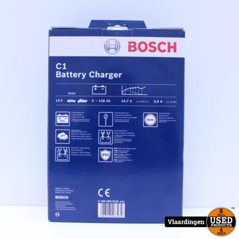 Bosch acculader C1 12 Volt 5-120 Ah 3,5 Ampère zwart - Nieuw in Doos -