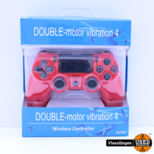 Controller voor Playstation 4 - Rood - Inclusief kabel - Nieuw -  Met Garantie -