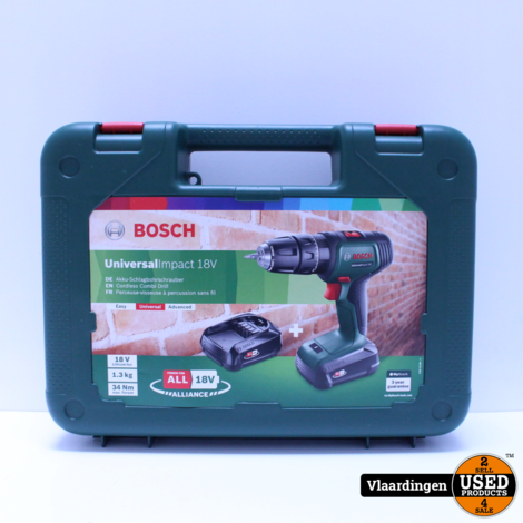Bosch schroef- en klopboormachine UniversalImpact 18V *NIEUW IN KOFFER*