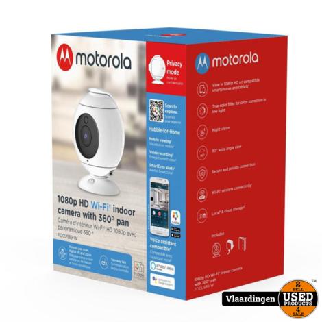 Motorola 1080P HD Wifi Indoor Camera with 360 Pan. Nieuw in Doos -