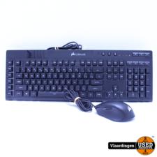corsair Corsair K55 RGB Keyboard en Corsair Harpoon RGB Muis.Top Staat