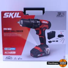 skil SKIL 20V accuklopboormachine 3018HB + 2 accu's 2,0Ah + 3-delige borenset + koffer*NIEUW*