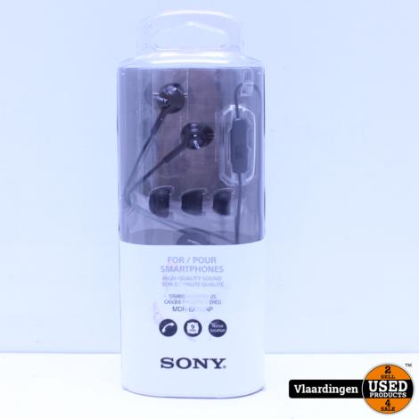 Sony MDR-EX110AP - In-ear oordopjes NIEUW - Zwart