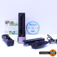 nintendo wii Nintendo Wii Zwart -  In goede staat - incl 1 controller-1 nunchuck - Wii Sports - Wii Resort -