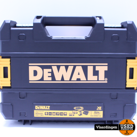 DeWalt DCD777 Schroef-Boormachine Brushless - met Accu 5.0aH / Lader - In Koffer - Met Garantie -