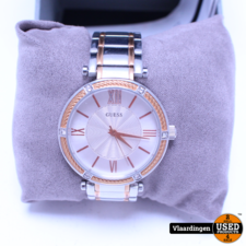 Guess GUESS Watches - W0636L1 Park Ave - Horloge - 36 mm - Zilverkleurig;Rosékleurig