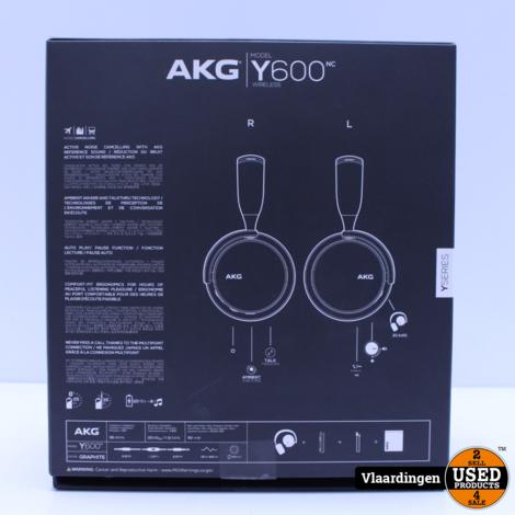 AKG Y600 NC Wireless Noice Canceling en Ambient Aware - In Top Staat  -  Met Garantie