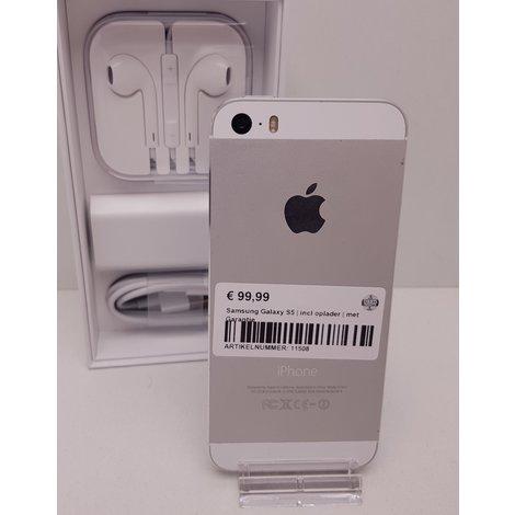 iPhone 5S 16GB Zilver | in Nette Staat | met Garantie