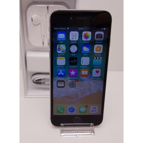 iPhone 6 16GB Space Gray| incl Oplader  | met Garantie