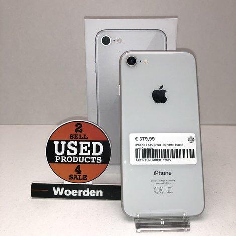 iPhone 8 64GB Wit | in Nette Staat | met Garantie