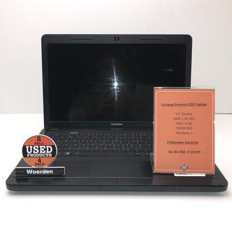 Compaq Presario CQ57 laptop AMD   4GB   250GB HDD    Met garantie   