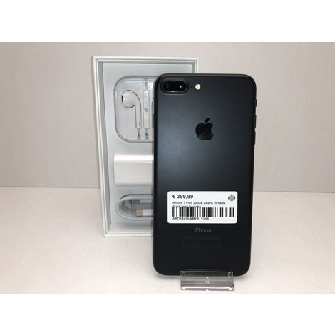 iPhone 7 Plus 256GB Zwart   in Nette Staat   met Garantie