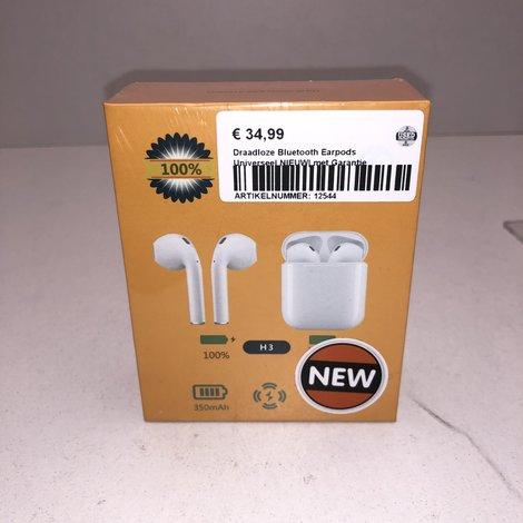 Draadloze Bluetooth Earpods Universeel NIEUW| met Garantie