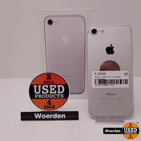 iPhone 7 32GB Zilver incl Oplader met Garantie