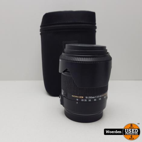 Sigma 18-250mm F3.5-6.3 Lens for Canon | Nette staat met Garantie