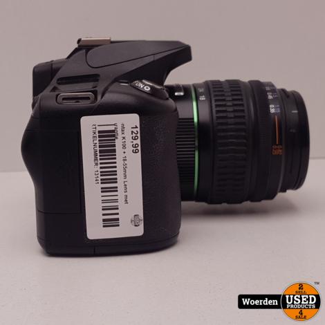 Pentax K100 + 18-55mm Lens met Garantie