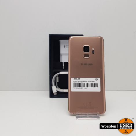 Samsung Galaxy S9 64GB Goud Nette Staat met Garantie