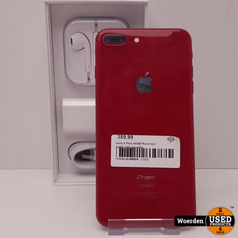 iPhone 8 Plus 64GB Rood incl Oplader met Garantie