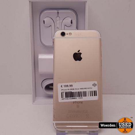 iPhone 6S 64GB Space Gray NIEUWE ACCU met Garantie