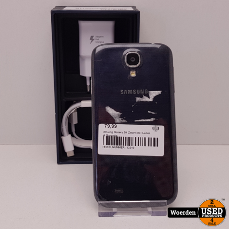 Samsung Galaxy S4 Zwart incl Lader met Garantie