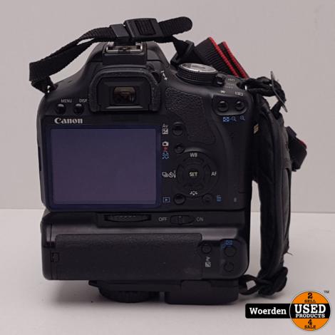 Canon Eos 500D + 28-80mm Lens + Bat Grip met Garantie
