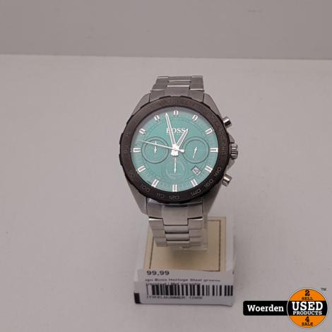 Hugo Boss Horloge Staal groene wijzerplaat   Met garantie