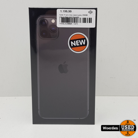 iPhone 11 Pro Max 256GB Space Gray NIEUW in Seal Met Garantie