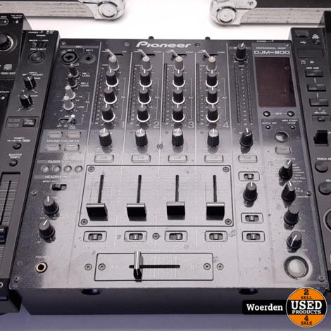 Pioneer CDJ2000 CDJ-2000  2 + DJM800 in Flightcase met Garantie