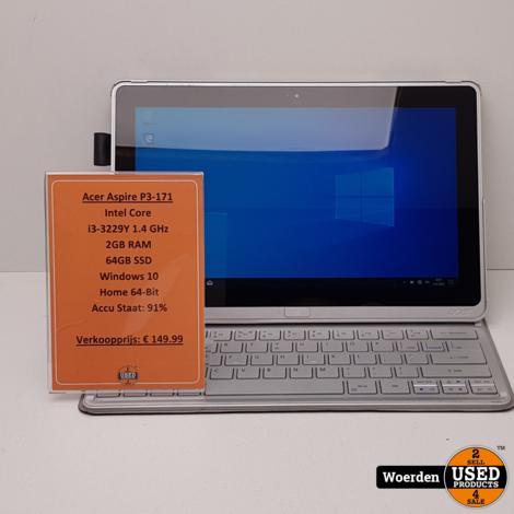 Acer Aspire P3-171 i3|2GB|64GBSSD met Garantie