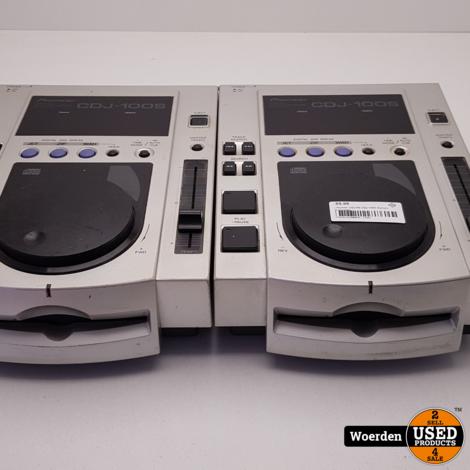 2 x Pioneer CDJ100 CDJ-100S Spelers met Garantie