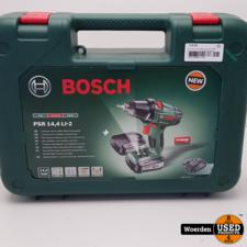 Bosch Accuschroefboormachine PSR 14,4 LI-2 incl. 2x 14,4V met Garantie