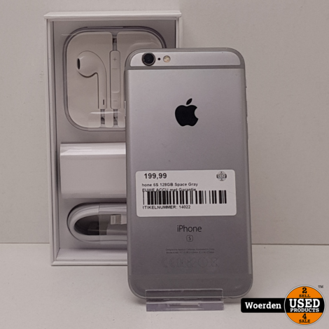 iPhone 6S 128GB Space Gray NIEUWE ACCU met Garantie