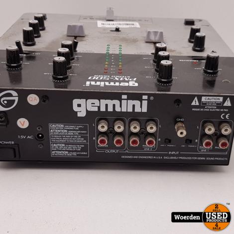 Gemini PMX-500 Stereo Mixer met Garantie