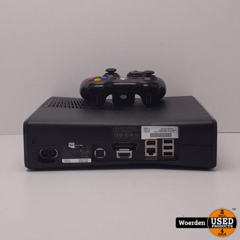 Xbox 360 Slim Zwart in Nette Staat met Garantie