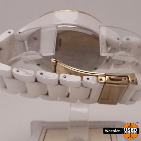 DKNY NY8194 Wit Keramiek Chrono horloge met Garantie