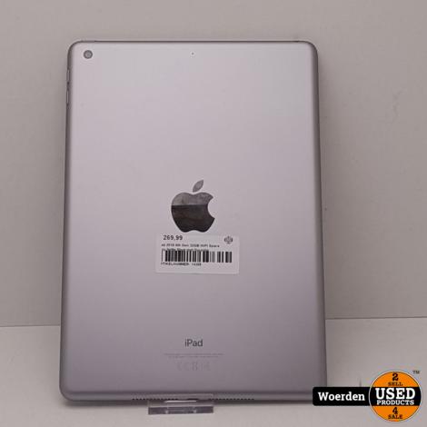iPad 2018 6th Gen 32GB WiFI Space Gray Nette Staat met Garantie