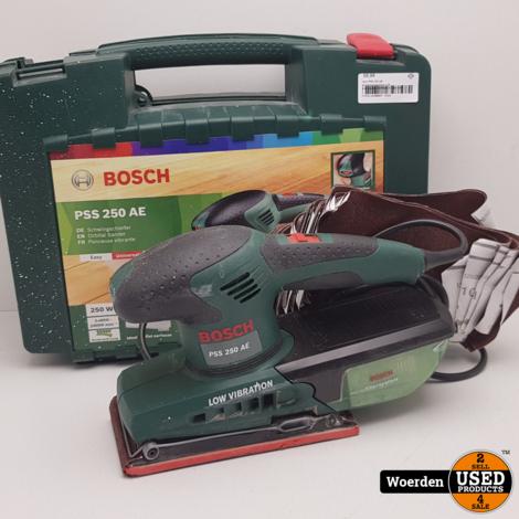 Bosch PSS 250 AE Vlakschuurmachine.+ 25 schuurbladen ZGAN met Garantie