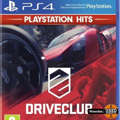 Playstation 4 PS4 Game: Driveclub