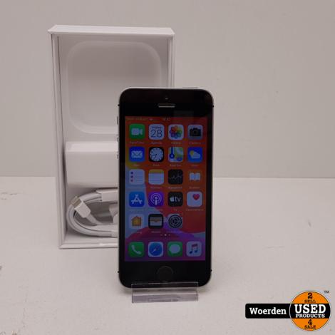 iPhone SE 32GB Space Gray Accu 91 met Garantie