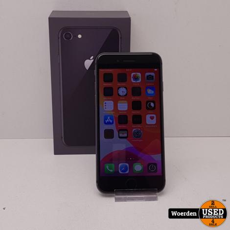 iPhone 8 64GB Space Grey in Nette Staat met Garantie