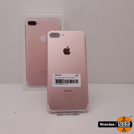 Iphone 7 Plus 32GB rosegold in Nette Staat met Garantie