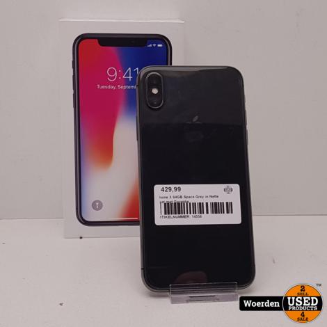 iPhone X 64GB Wit NIEUWE ACCU met Garantie