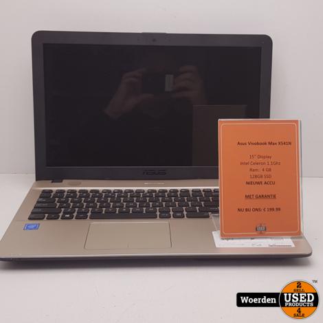 Asus Vivobook Max X541N Cel 1.1Ghz|4GB|128GBSSD met Garantie