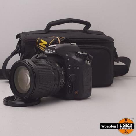 Nikon D750 Camera + 18-105mm VR Lens Nette Staat met Garantie