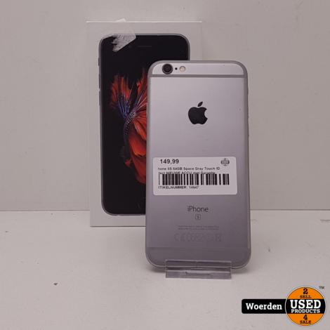 iPhone 6S 64GB Space Gray Touch ID defect NIEUWE ACCU met Garantie